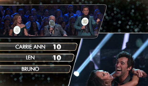 Carrie Ann Inaba, Len Goodman, Bruno Tonioli, Cheryl Burke and Juan Pablo Di Pace, Dancing with the Stars