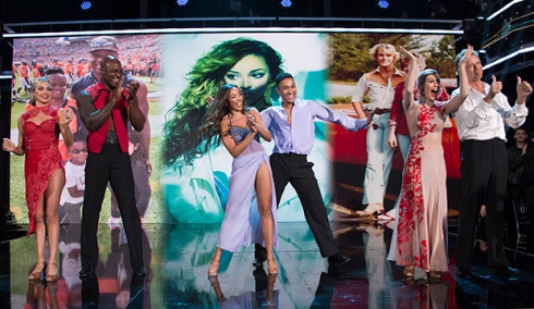 Lindsay Arnold, DeMarcus Ware, Tinashe, Brandon Armstrong, Emma Slater and John Schneider, Dancing with the Stars