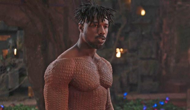 Michael B Jordan in Black Panther