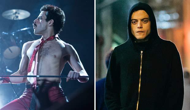 Rami Malek in Bohemian Rhapsody and Mr Robot