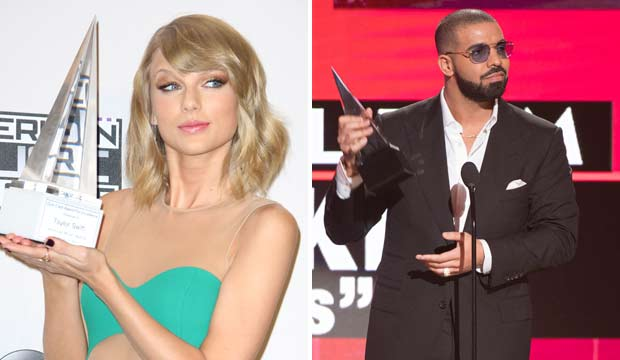 AMAs love Taylor Swift, but we think Drake will become rap's first Artist of the Year