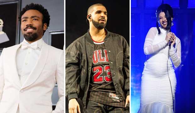 Childish Gambino, Drake and Cardi B