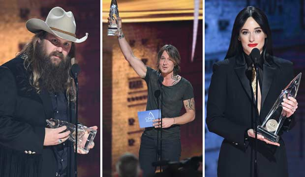 Chris Stapleton, Keith Urban, Kacey Musgraves win CMA Awards 2018