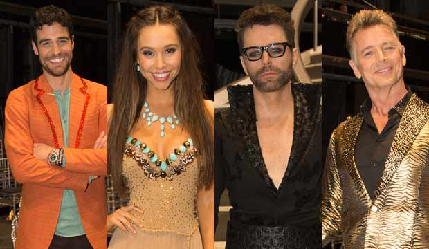 Joe Amabile, Alexis Ren, Bobby Bones and John Schneider, DWTS
