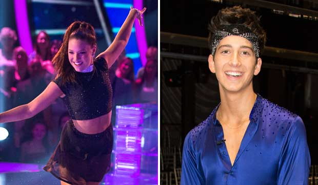 Mackenzie Ziegler and Milo Manheim on DWTS