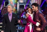 Tom Bergeron, Alexis Ren and Alan Bersten, Dancing with the Stars