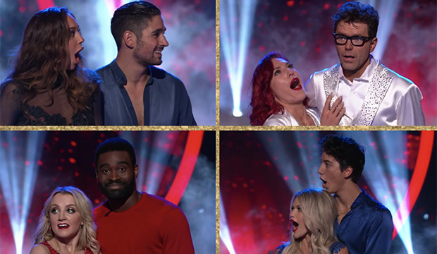 Alexis Ren, Alan Bersten, Sharna Burgess, Bobby Bones, Evanna Lynch, Keo Motsepe, Witney Carson and Milo Manheim, Dancing with the Stars