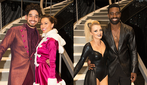 Alan Bersten and Alexis Ren; Evanna Lynch and Keo Motsepe, Dancing with the Stars