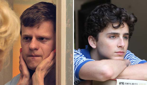 Lucas Hedges and Timothee Chalamet