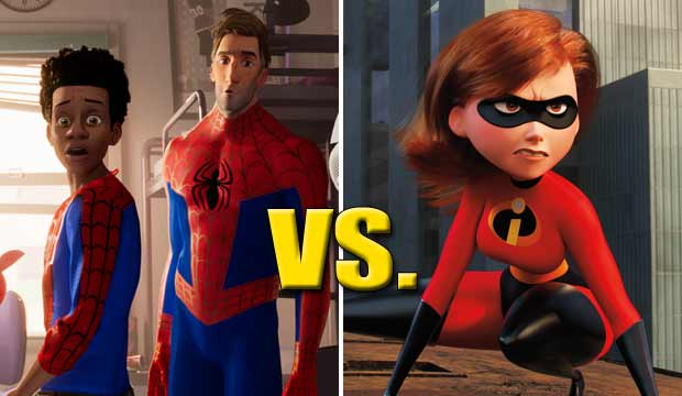 Spider Man Into the Spider Verse and Incredibles 2