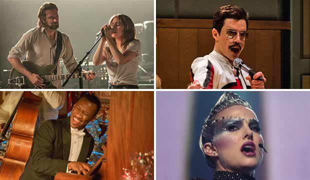 A Star is Born, Bohemian Rhapsody, Green Book, Vox Lux