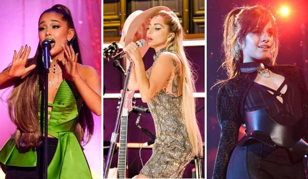 Ariana Grande, Lady Gaga and Camila Cabello