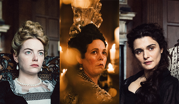 Emma Stone, Olivia Colman and Rachel Weisz. The Favourite