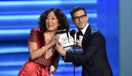 Sandra Oh and Andy Samberg, 70th Primetime Emmy Awards
