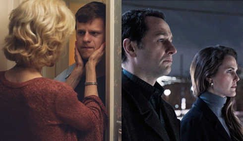 Nicole Kidman and Lucas Hedges, Boy Erased; Matthew Rhys and Keri Russell, The Americans