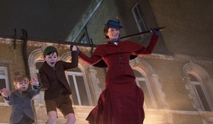 Joel Dawson, Nathanael Saleh and Emily Blunt, Mary Poppins Returns
