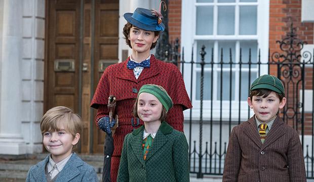 Emily Blunt, Joel Dawson, Pixie Davis and Nathanael Saleh, Mary Poppins Returns