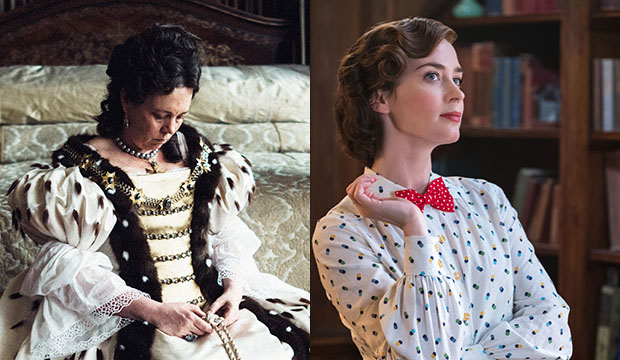 Olivia Colman, The Favourite; Emily Blunt, Mary Poppins Returns