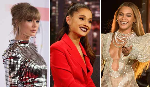 Taylor Swift, Ariana Grande, Beyonce