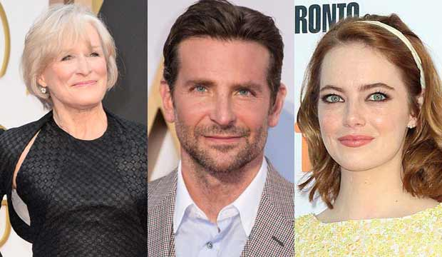 Glenn Close Bradley Cooper Emma Stone