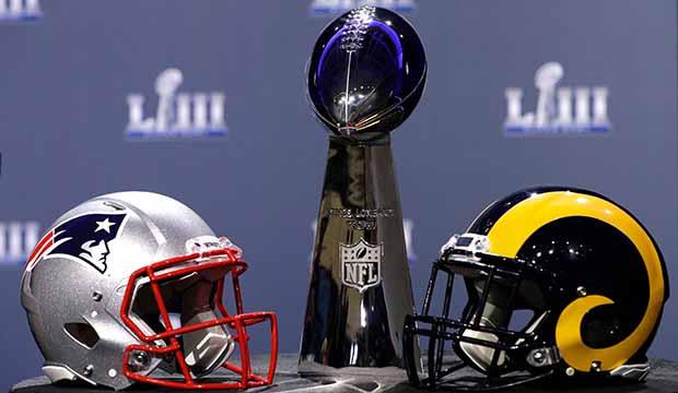 Rams Patriots Super Bowl Football
