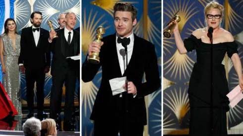 The Americans, Richard Madden and Patricia Arquette at Golden Globes 2019