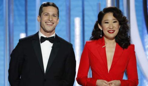 Andy Samberg and Sandra Oh hosting Golden Globes 2019