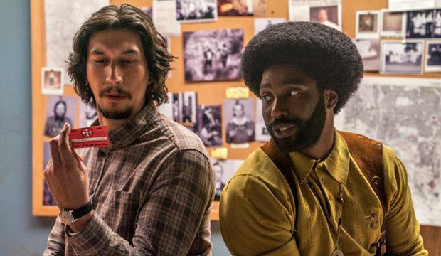 Adam Driver and John David Washington, BlacKkKlansman