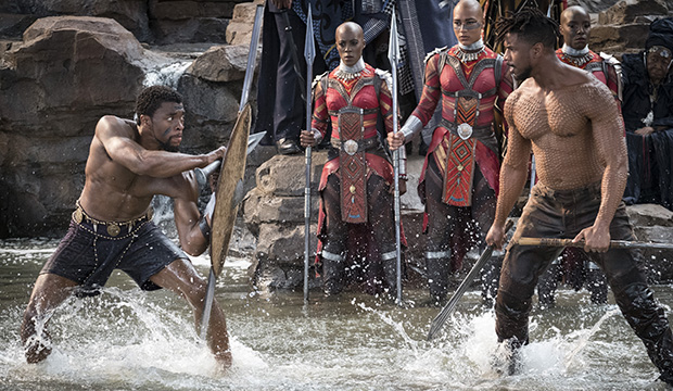 Chadwick Boseman and Michael B. Jordan, Black Panther