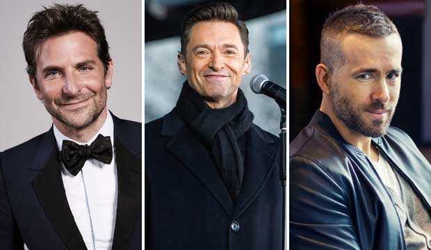 Bradley Cooper, Ryan Reynolds, Hugh Jackman
