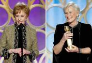 Carol Burnett and Glenn Close at Golden Globes 2019