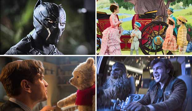 Black Panther, Mary Poppins, Christopher Robin, Solo