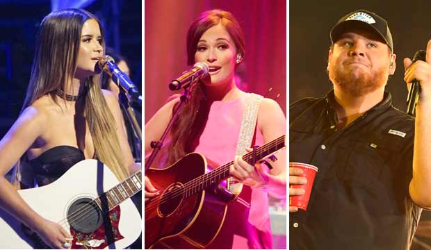 Maren Morris, Kacey Musgraves and Luke Combs
