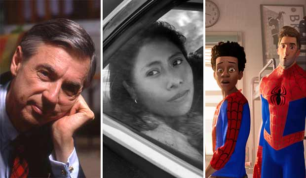 Won't You Be My Neighbor, Roma, Spider Man Into the Spider Verse