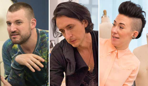 Evan Biddell, Dmitry Sholokhov and Michelle Lesniak