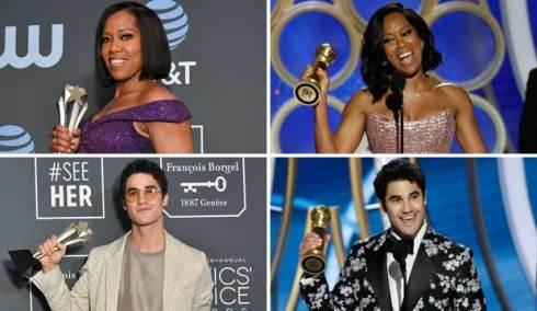 Regina King and Darren Criss, Critics Choice and Golden Globes 2019