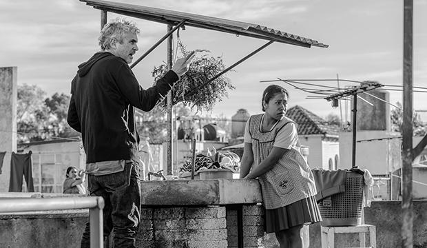 Alfonso Cuaron and Yalitza Aparicio, Roma
