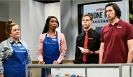 Aidy Bryant, Ego Nwodim, Mikey Day and Adam Driver, Saturday Night Live