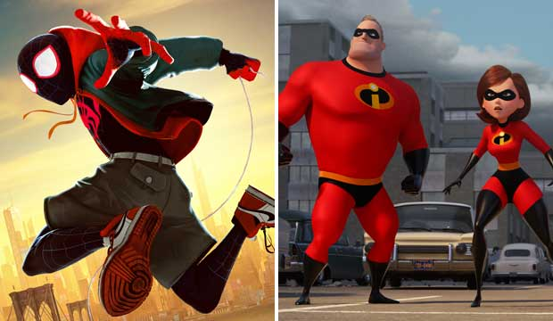 Spider Man and Incredibles 2