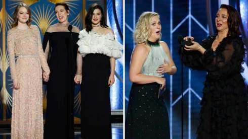 The Favourite, Amy Poehler, Maya Rudolph at Golden Globes 2019