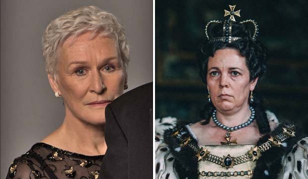 Glenn Close and Olivia Colman