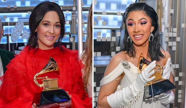 Kacey Musgraves and Cardi B, Grammys 2018