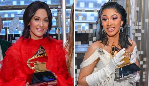 Kacey Musgraves and Cardi B, Grammys 2018