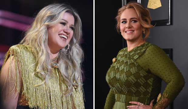 Kelly Clarkson and Adele