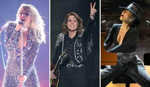 Lady Gaga, Brandi Carlile and Alicia Keys