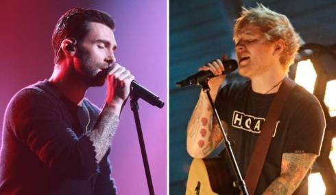 Maroon 5 and Ed Sheeran