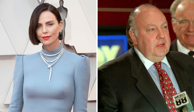 Charlize Theron and Roger Ailes