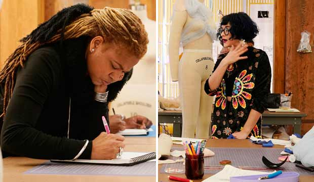 Nadine Ralliford and Hester Sunshine in Project Runway