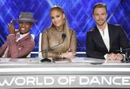 World of Dance hosts Ne-Yo, Jennifer Lopez and Derek Hough