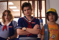 Maya Hawke, Joe Keery and Gaten Matarazzo, Stranger Things